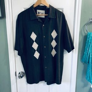 Vintage silk retro style dress shirt